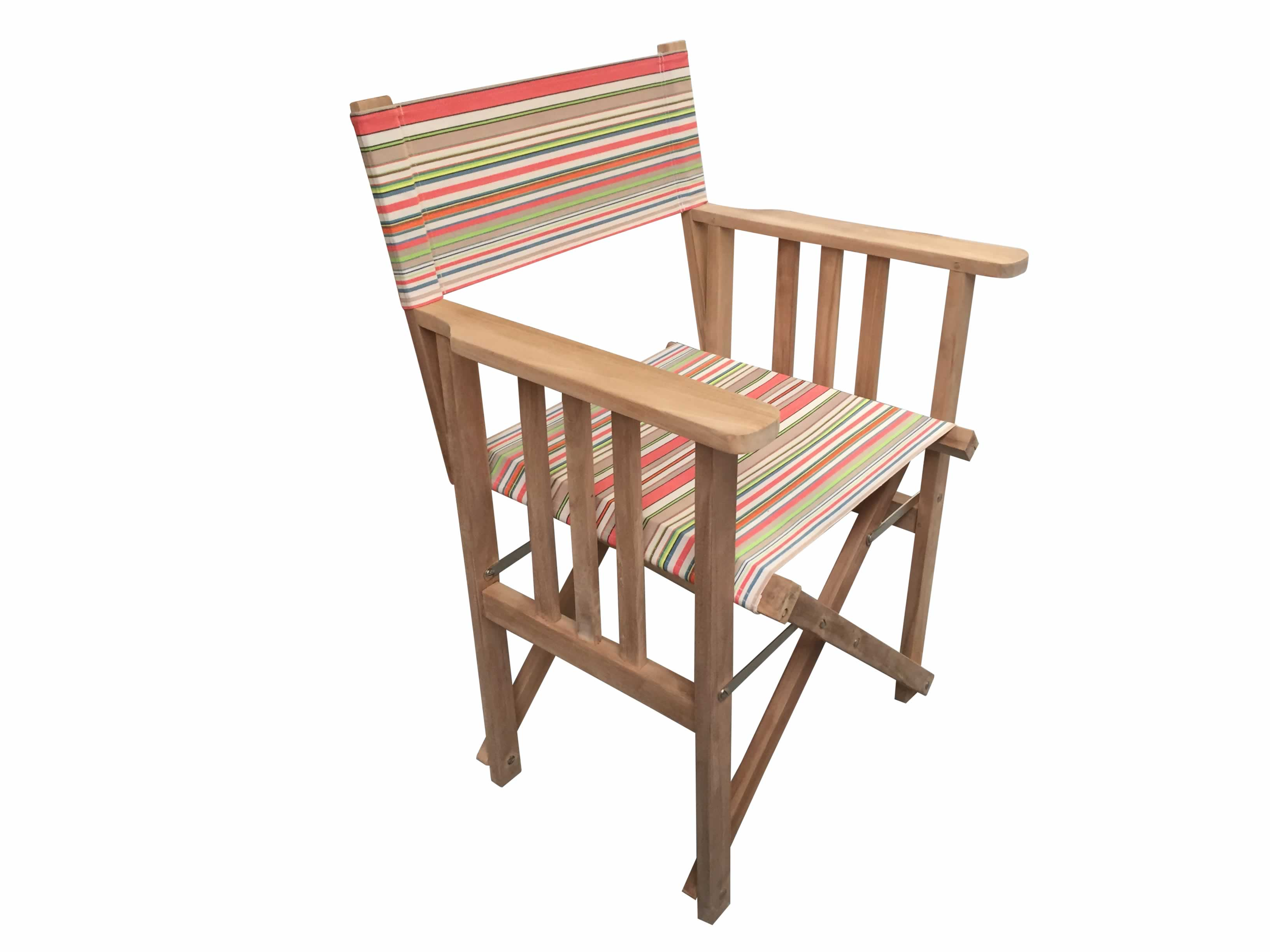 Vintage Look Directors Chair   Slamball Stripe