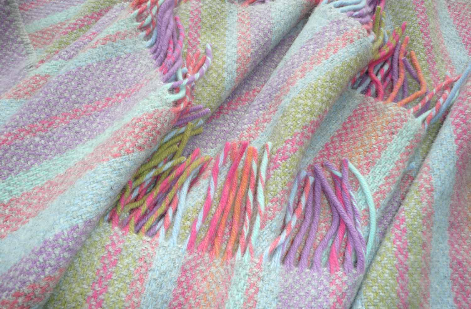 Stripe Merino Cashmere mix Throw