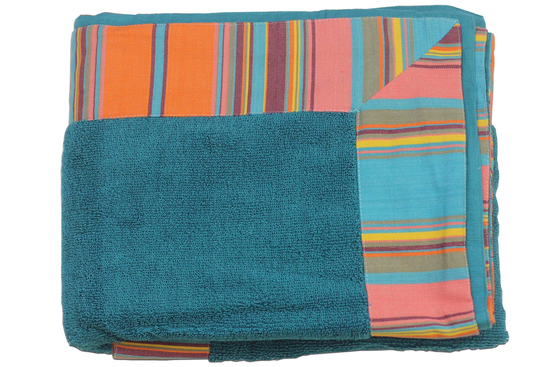 extra large beach towel slalom blue - Large Beach Towels