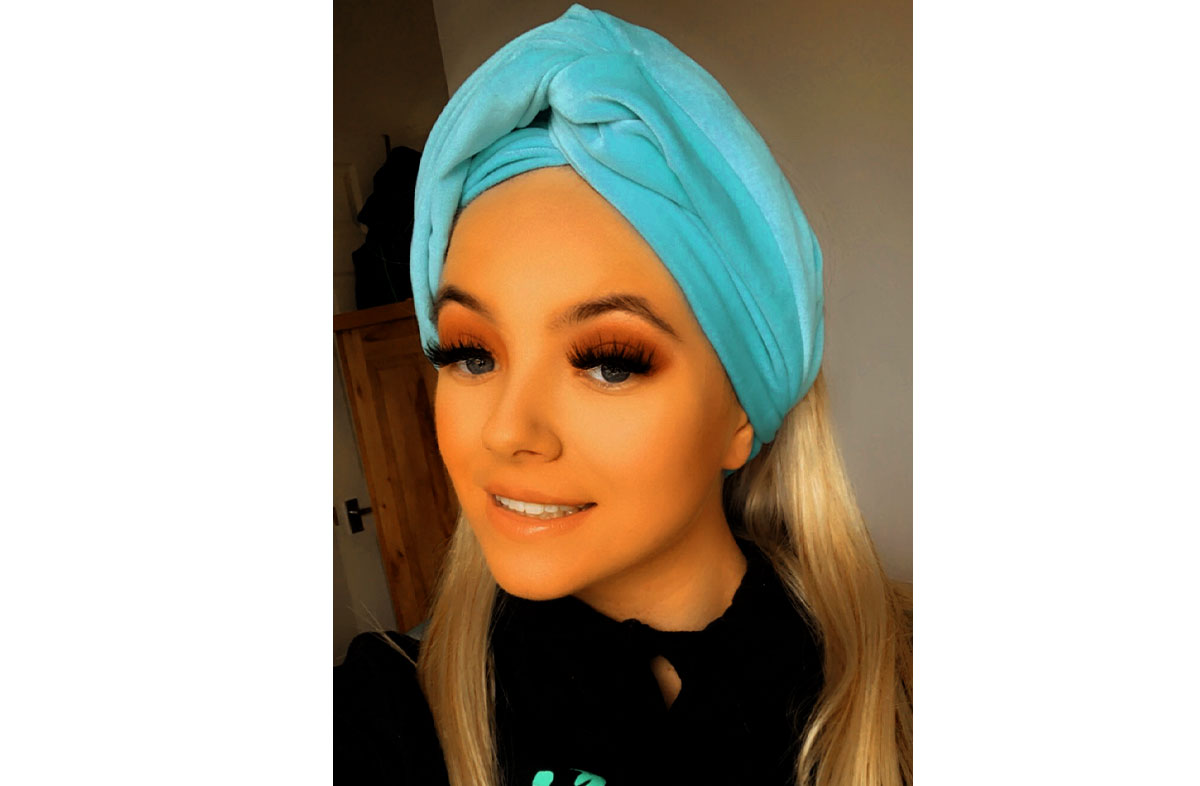 Turquoise Velvet Turban Headbands