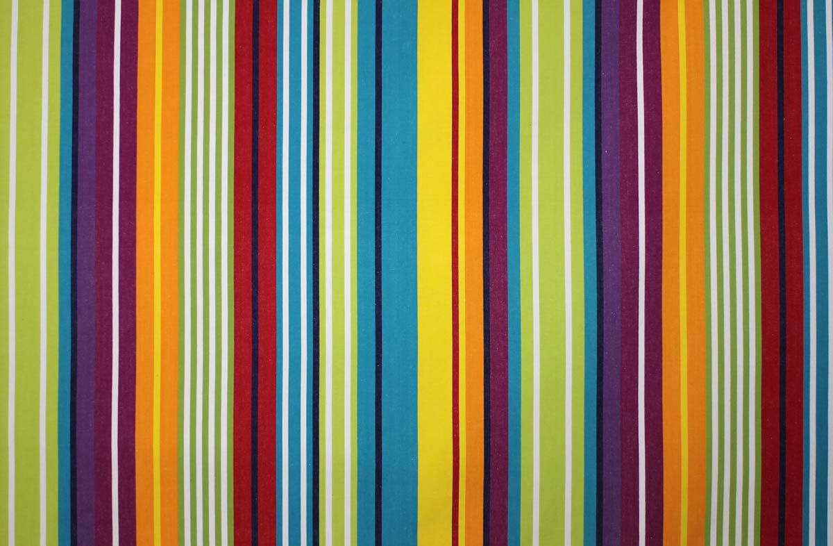 Bright Vibrant Striped Water Repellent Fabrics  turquoise, green, red