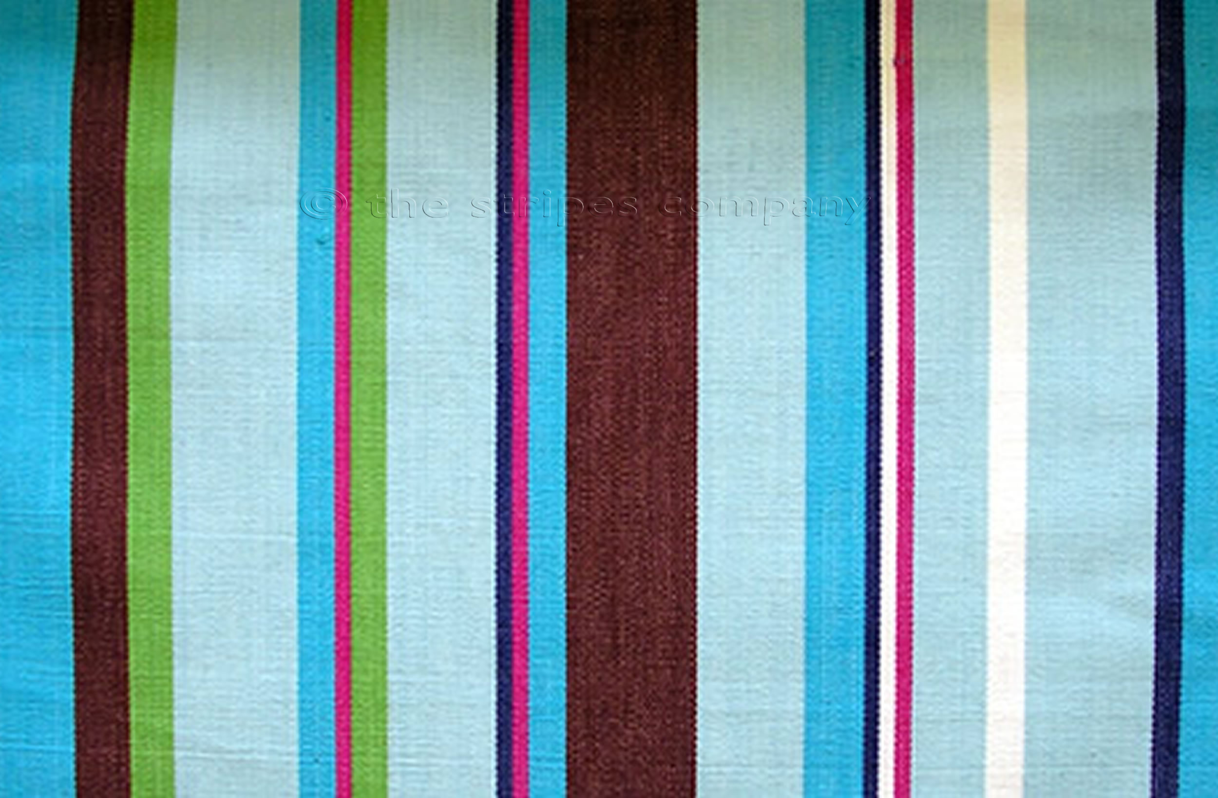 turquoise, pale blue, brown - Wipe Clean Fabrics | Striped Water Repellent Fabrics