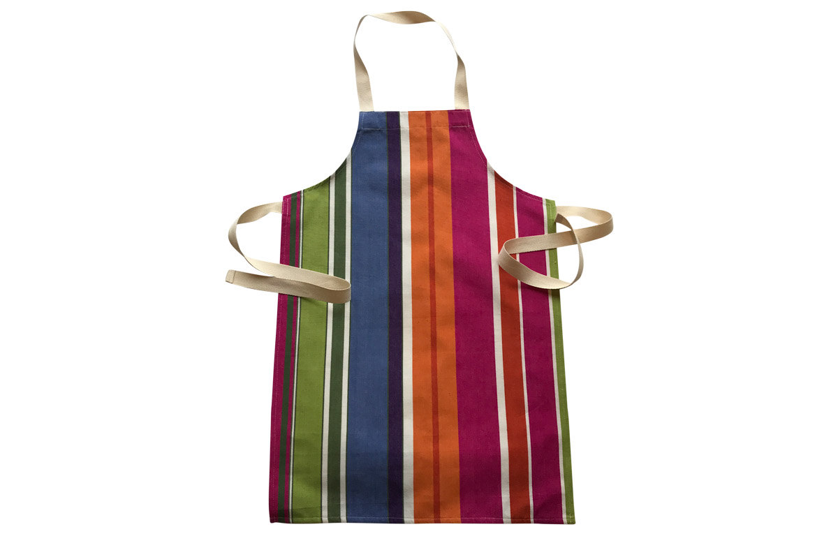 Pink Striped Kids Aprons | Aprons for Children Pink  Blue  Green  Stripes