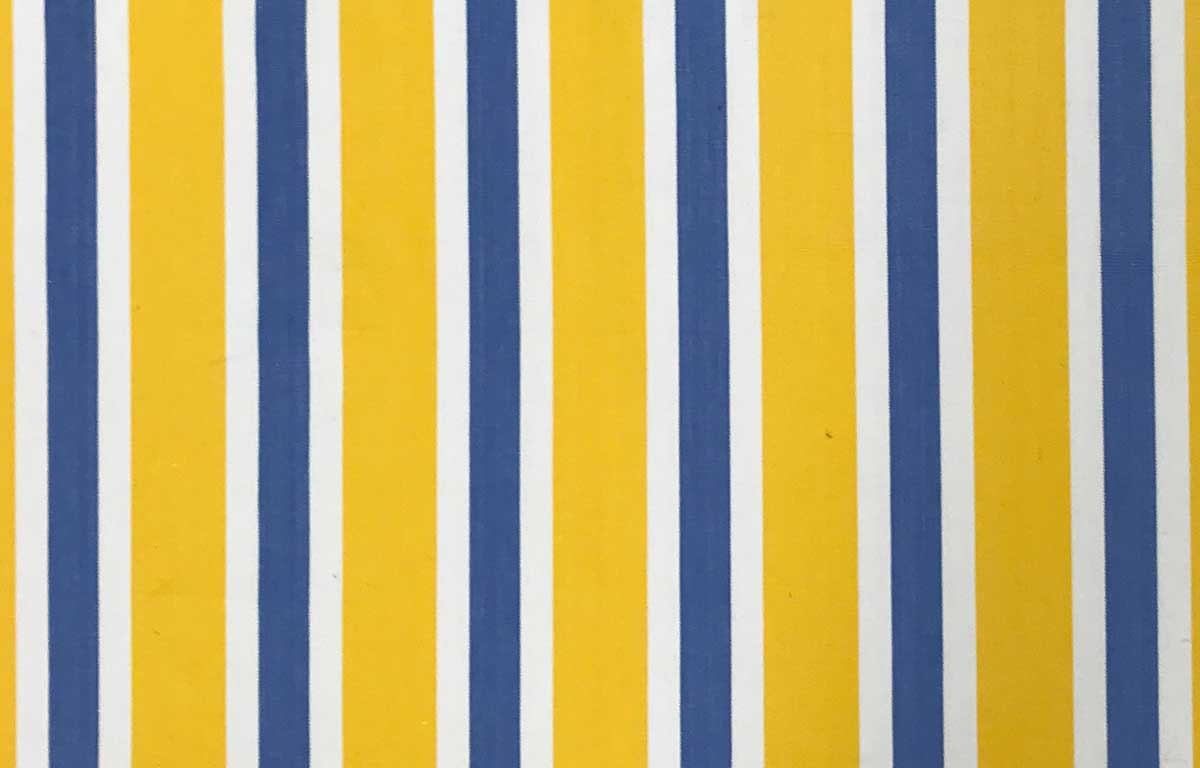 Yellow Blue And White Striped Fabric