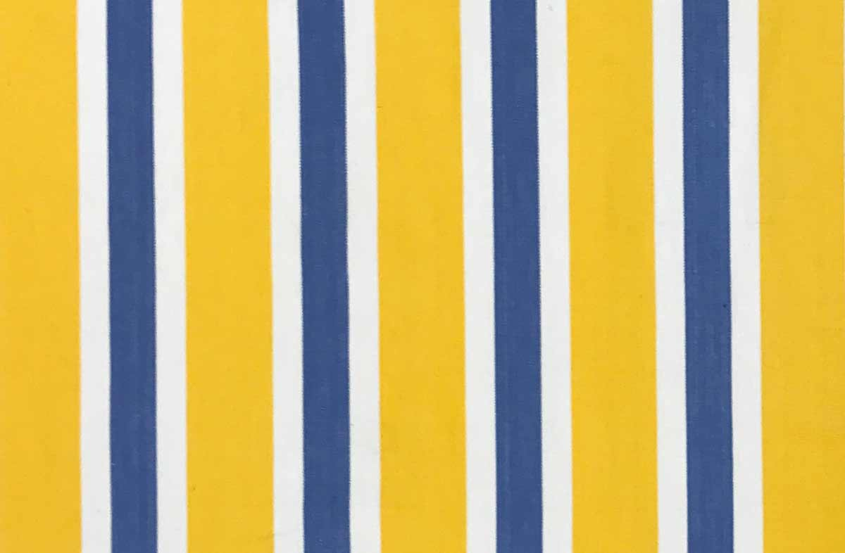 Yellow Blue And White Striped Fabric The Stripes Company United