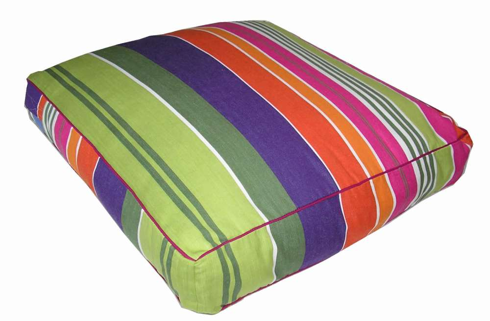 Pink Large Floor Cushions Weightlifting Stripes The Stripes Company